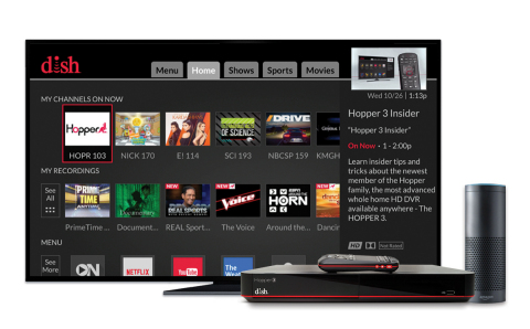 DISH and Amazon deliver Alexa voice control on Hopper DVR (Photo: Business Wire)