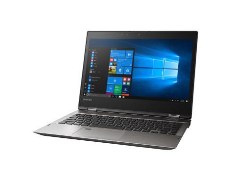 Sleek, versatile, modern and powerful. The Portégé® X20W embodies these characteristics and much more as Toshiba's new premium 2-in-1 convertible notebook. A 360-degree, dual-action hinge allows the Portégé® X20W to easily transform from a powerful, performance-oriented notebook into a premium digital inking tablet by simply rotating the display. (Photo: Business Wire)