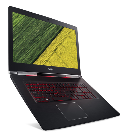 """The Aspire V 17 Nitro is the first laptop to bring together Tobii's eye tracking technology and Microsoft's Precision Touchpad (PTP) platform. The combination of eye tracking and a PTP touchpad creates a """"virtual touchscreen"""" experience that delivers new levels of natural interaction and productivity. (Photo: Business Wire)"""