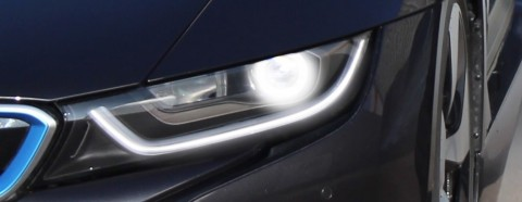 Laser front lighting: Laser front-lighting technology doubles the high-beam range from 300m to 600m (2,000 ft) – while the small space requirements enable very slim headlight designs. (Photo: Business Wire)