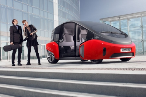 Rinspeed Car: OSRAM provides the lighting for the Rinspeed concept car to be presented during CES at the Harman exhibit at the Hard Rock Hotel, Las Vegas.