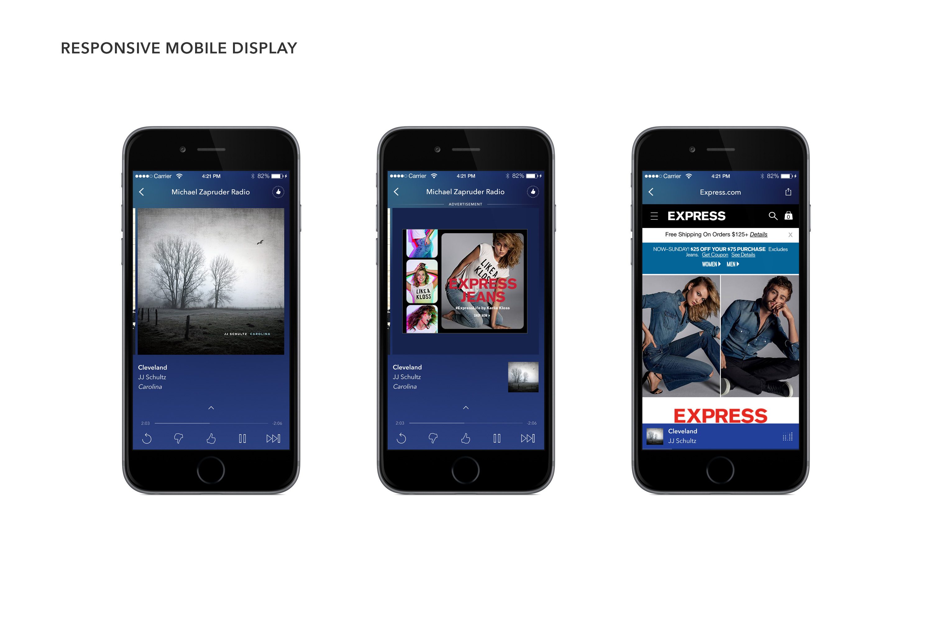 Pandora's Responsive Mobile Display (Photo: Business Wire)