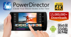 PowerDirector Mobile App Supports 4K Video Editing (Graphic: Business Wire)