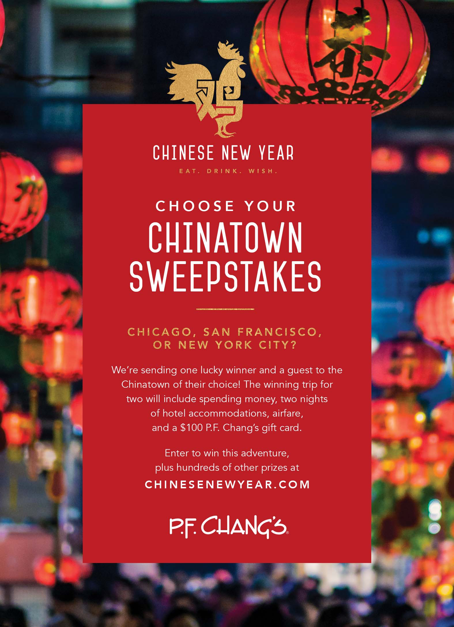 PF Changs Celebrating Chinese New Year by Giving Away More Than