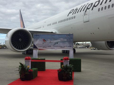 The first B777 delivered to PAL on October 28th, 2016 (Photo: Business Wire)