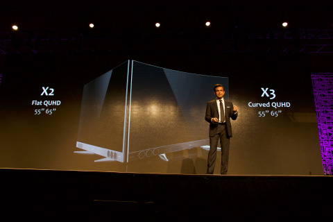 Ranjit Gopi, Marketing Director & Head of Overseas Marketing, TCL Multimedia Holdings Ltd., announced the launch of X2 and X3 at CES 2017. (Photo: Business Wire)