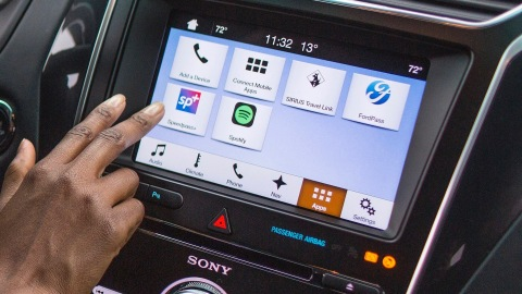 Wish paying for gas was as easy as pulling up to the pump and not having to punch grimy buttons or swipe a credit card? Ford is first to integrate ExxonMobil's Speedpass+™ app to make paying for gas quick, easy and secure from inside the vehicle. (Photo: Business Wire)