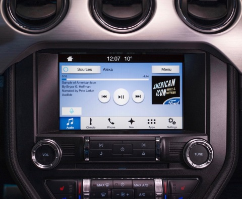 Alexa integration - the most comprehensive ever in a vehicle - allows Ford owners to play and resume audiobooks, order items on Amazon, search for and transfer local destinations to the in-car navigation system, and more. From home, Ford vehicle owners will be able to remote start, lock or unlock doors, and get vehicle information using voice commands. (Photo: Business Wire)