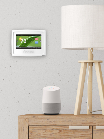 This programmable smart device from Onelink by First Alert works seamlessly with Google Home and Amazon Alexa, allowing users to integrate with the smart home platform of their choice. (Photo: Business Wire)