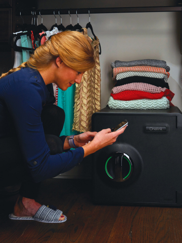 Ideal for homes and small businesses, this smart safe from Onelink by First Alert combine's best-in-class security with smart home functionality. (Photo: Business Wire)