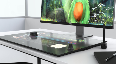 Dell Canvas is the world's first horizontal QHD smart workspace with digital touch, totem and pen ca ...