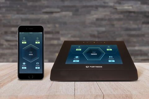 Fortress Cyber Security Fortress UTM, the first residential unified threat management (UTM) appliance with a large touch screen for easy set up and threat detection/notification. (Photo: Business Wire)