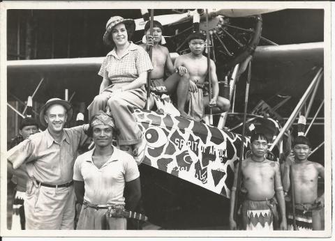 Osa and Martin, North Borneo 1935. (Photo: Martin & Osa Johnson Safari Museum)