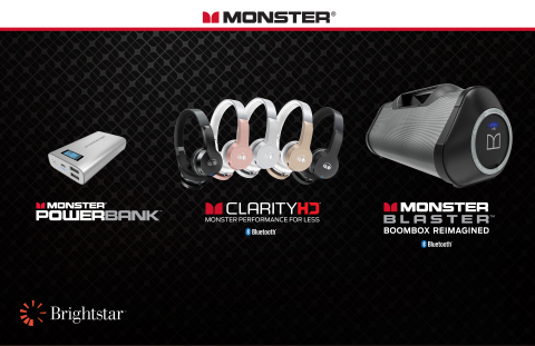 Brightstar Partners with Monster to Bring Its High Performance Audio Products to Retailers, MVNOs, Mobile Network Operators, Online and Enterprise Customers Across 55 Countries on Six Continents. (Graphic: Business Wire)