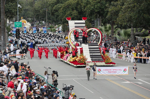 Judges' Special Trophy for Rose Parade® Float Keep the Beat Alive (Photo: Business Wire)