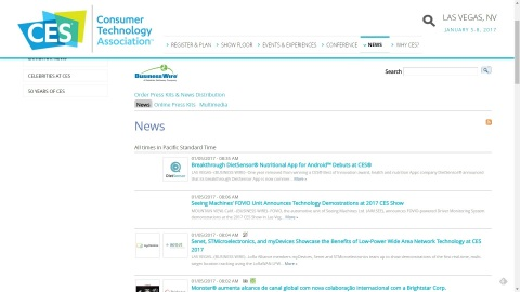 CES 2017 Exhibitor News and Digital Media Available on the CES 2017 Show Site and Tradeshownews.com (Graphic: Business Wire)
