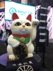 "BS01+'s users co-created ""Happy Cat"" object especially for the CES2017 (Photo: Business Wire)"