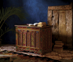 Red Painted Dowry Chest from the CRAFT: Morocco Collection at Cost Plus World Market (Photo: Business Wire)