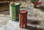 Hexagonal Marrakech Occasional Tables from the CRAFT: Morocco Collection at Cost Plus World Market (Photo: Business Wire)