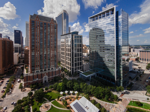 Columbia Property Trust has exited the Houston market with the sale of three office properties to Spear Street Capital, including 5 Houston Center. (Photo: Business Wire)