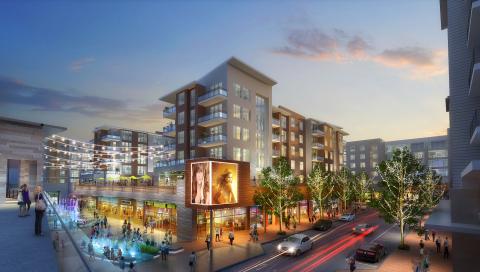 Landmark Redevelopment Rendering - Corner View (Photo: Business Wire)