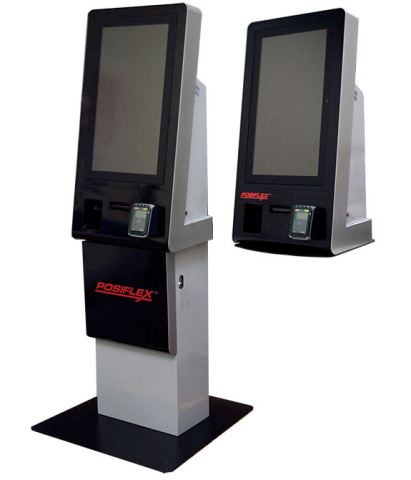 In 2016, Posiflex acquired KIOSK to combine superior kiosk design with highly durable Posiflex transaction components. The Stellar series is available as a free standing or countertop. The enclosure can be customized as needed and is ADA compliant for self-service access to all your customers. (Photo: Business Wire)