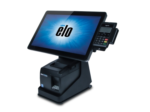 Elo's commercial-grade mPOS system that flips between point of sale and self-order kiosk (Photo: Business Wire)