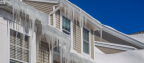 PCI urges homeowners to stay alert to potential hazards such as ice dams that can lead to water damage. Heavy snow can also place significant stress on roofs and older, weaker structures. Use caution when trying to remove ice and snow from a roof. (Photo: Business Wire)