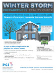 PCI's Winter Storm infographic helps you conduct a reality check on your preparedness level. It identifies common winter hazards and provides simple steps to minimize property damage. (Graphic: Business Wire)