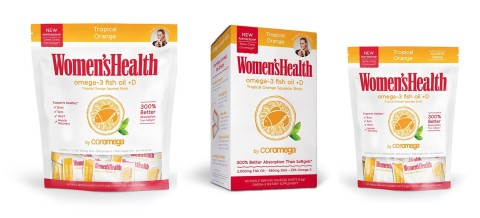 New Coromega Women's Health Omega-3 Fish Oil Squeeze Shots (Photo: Business Wire)