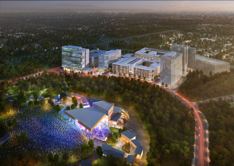 Merriweather District Aerial with Merriweather Post Pavilion (Photo: Business Wire)