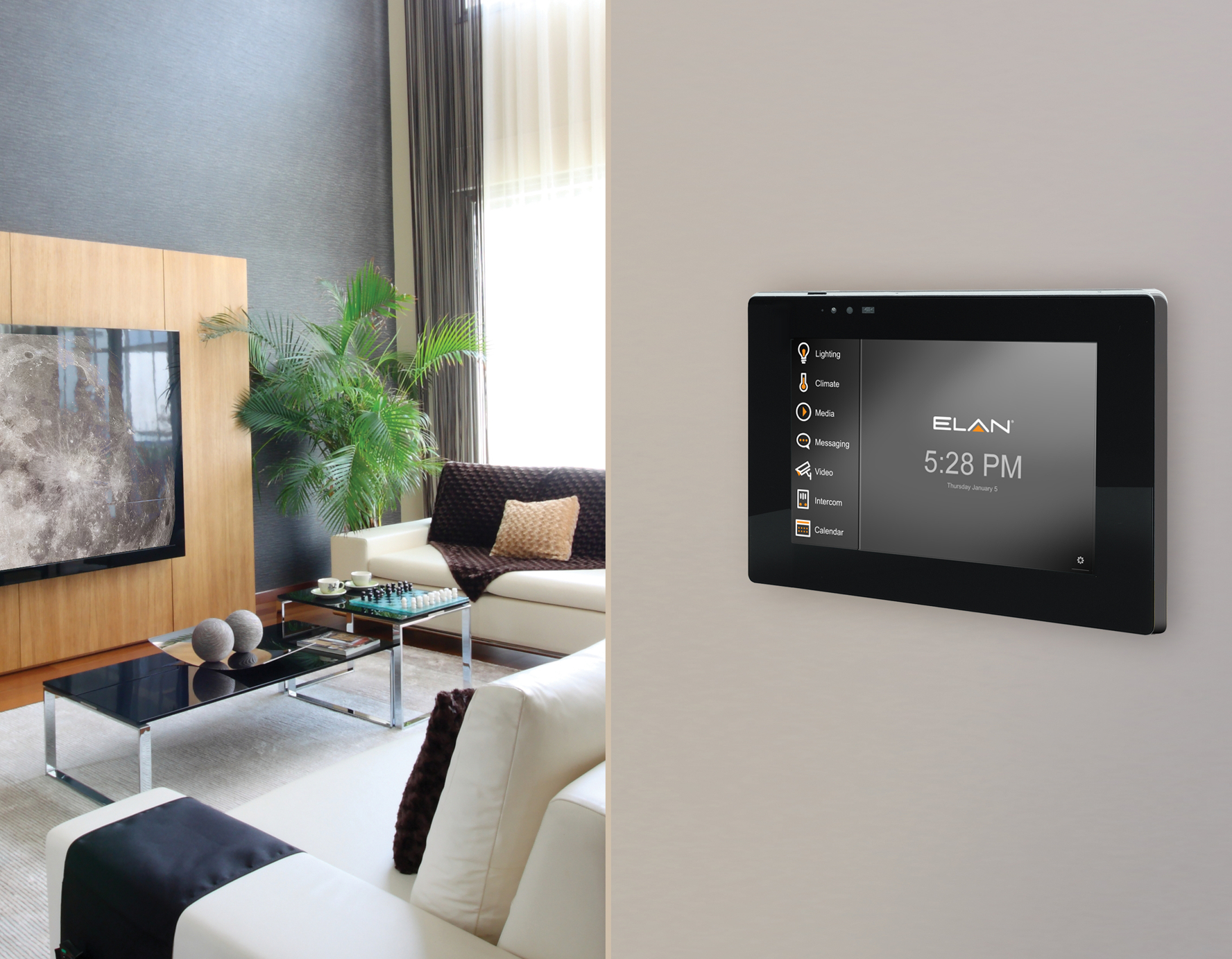 new elan smart home control software named human interface product of the year at ces 2017. Black Bedroom Furniture Sets. Home Design Ideas