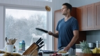 "Intel's 360 replay technology offers a glimpse of Tom Brady's morning routine in Intel's ""Brady Everyday"" Super Bowl commercial. Intel's 360 technology will be showcased in the Super Bowl game broadcast. (CREDIT: Intel Corporation)"
