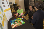 Inventor and FIRST founder Dean Kamen talks with Detroit-based FIRST student about their FIRST LEGO League Jr. project. (Photo: Business Wire)