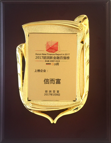 """China Rapid Finance named to Hurun Report's """"2017 China New Finance Top 50."""" (Photo: Business Wire)"""