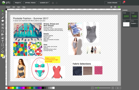 PTC announced a concept management app, its latest innovation for its FlexPLM® software. The new digital design application will be showcased at PTC's booth #1344 at National Retail Federation's (NRF) annual Convention & EXPO, better known as Retail's BIG Show, on January 15-17th. (Photo: Business Wire)