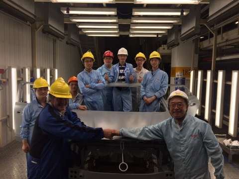 Henkel team with first treated car body after the brownfield conversion. (Photo: Business Wire)