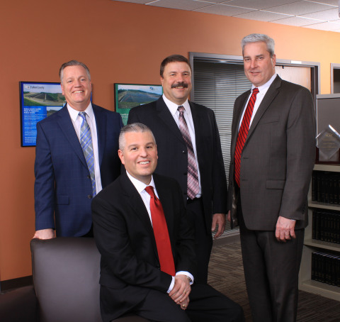 Barton & Loguidice, D.P.C. (B&L), a northeast regional engineering, planning, environmental, and landscape architecture firm, announces new leaders, effective January 1, 2017. From Left to Right: Matthew J. Schooley, P.E., John F. Brusa, Jr., P.E., Paul R. Czerwinski, P.E., and Richard A. Straut, P.E. (Photo: Business Wire)