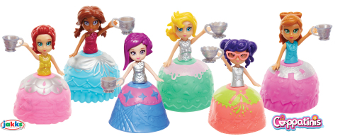 Cuppatinis™, a line of 3.5-inch dolls from JAKKS Pacific that children can transform from adorable dolls into beautiful teacups and back again. (Photo: Business Wire)