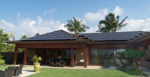 Pro Golfer Tom Watson installed a 25.4kW Mitsubishi Electric PV system on his Hawaiian home. (Photo: Business Wire)