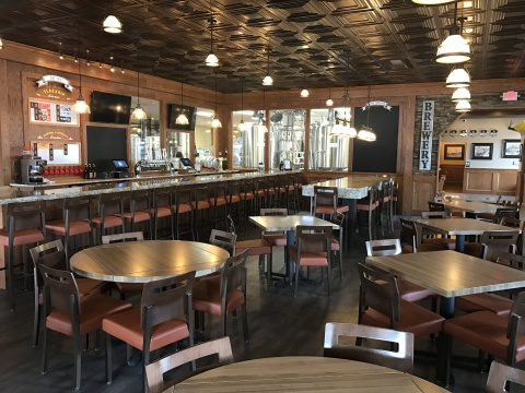 Midland Brewing Company is offering a sneak peek of the newly renovated interior of its restaurant, set to open February 9. (Photo: Business Wire)