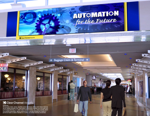 Pictured is a rendering of just one of the many digital media assets Clear Channel Airports will bring to GMIA in 2017. (Photo: Business Wire)