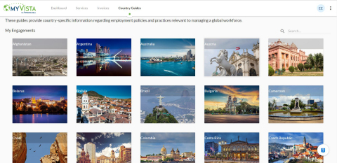 Through iWorkGlobal's MyVista, clients can access detailed country information, submit and review pricing requests, submit workers for assignment or evaluation, review current and historical assignment activity and invoicing. (Photo: Business Wire)