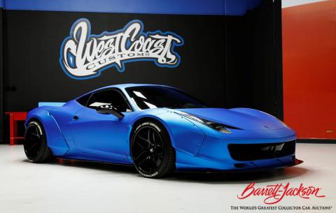 Grammy award-winning singer and songwriter Justin Bieber's 2011 Ferrari 458 Italia F1 Edition (Lot #1372) will cross the Barrett-Jackson Scottsdale Auction block on Saturday, Jan. 21 (Photo: Business Wire)