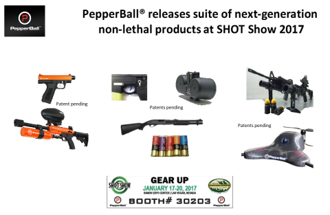 PepperBall at SHOT Show 2017 (Graphic: Business Wire)