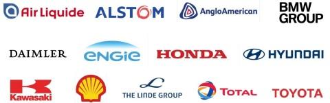 Les membres du Hydrogen Council