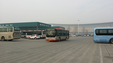 EDI's PowerDrive™ 6000 to be deployed in Yaxing Motor Coach bus fleet for the City Sheyang, China. The fleet of city buses will reduce emissions and fuel consumption by up to 50%. (Photo: Business Wire)