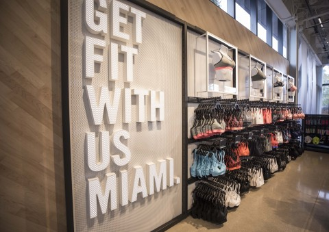 The first floor of Nike Miami features Women's product including the Bra Fit Shop. (Photo: Business Wire)