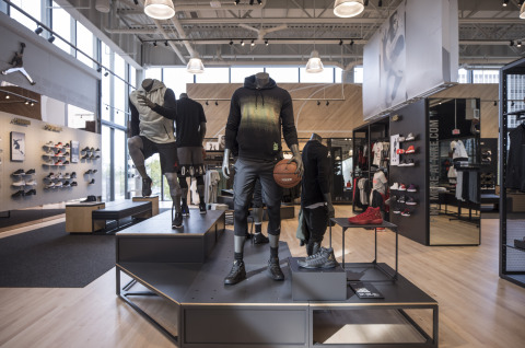 Nike Miami features Jordan Brand and Nike Basketball product on the store's second floor, including iconic silhouettes and re-stocks. (Photo: Business Wire)