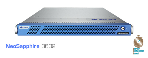 AccelStor's NeoSapphire 3602 all-flash array ranked #3 in SPC-1 Price-Performance rankings (Photo: B ...